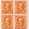 90c orange Perry proof block of four