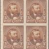 5c chocolate Grant proof block of four