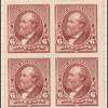 6c brown red Garfield proof block of four