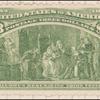$3 yellow green Columbus Describing His Third Voyage Specimen single