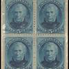 5c blue Taylor block of four