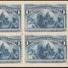 1c deep blue Columbus in sight of land block of four