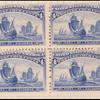 4c ultramarine Fleet of Columbus block of four