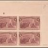 8c magenta Columbus Restored to Favor block of four
