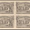 10c black brown Columbus Presenting Natives block of four