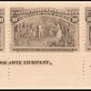 10c black brown Columbus Presenting Natives imprint strip of three