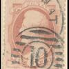 6c pink Lincoln single