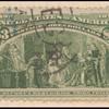 $3 yellow green Columbus Describing His Third Voyage single