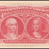 $4 crimson lake Queen Isabella & Columbus single