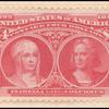 $4 crimson lake Queen Isabella & Columbus single