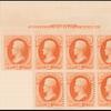 2c vermilion Jackson imprint block