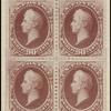90c carmine Perry block of four