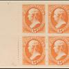 15c red orange Webster block of four