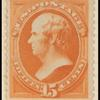 15c red orange Webster single