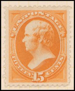 15c red orange Webster single