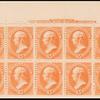 15c red orange Webster imprint block