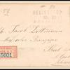 15c red orange Webster single on cover