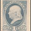 1c gray blue Franklin single