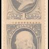 1c gray blue Franklin pair