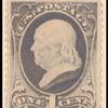 1c gray blue Franklin single