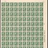 1c green Washington sheet of one hundred