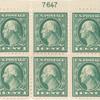 1c green Washington block of six