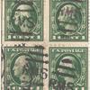 1c green Washington block of four