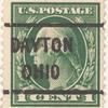 1c green Washington single