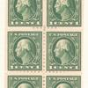 1c Washington booklet pane of six