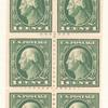 1c Washington booklet pane of six
