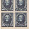 15c dark blue Clay block of four