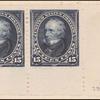 15c dark blue Clay horizontal pair