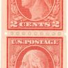 2c red Washington pair
