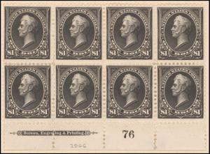 $1 black Perry block of eight