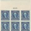 $2 dark blue Madison block of six