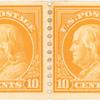 10c orange yellow Washington pair