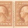 4c orange brown Washington pair