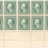 1c green Washington block of twelve