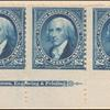 $2 bright blue Madison strip of three