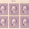3c violet Washington block of six