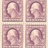 3c violet Washington block of four