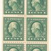 1c green Washington booklet pane of six