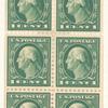 1c green Washington booklet pane of six