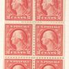 2c rose Washington booklet pane of six
