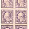 3c light violet Washington booklet pane of six