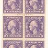 3c dark violet Washington booklet pane of six