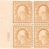 4c brown Washington block of four