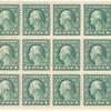 1c green Washington booklet pane of thirty