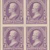3c purple Jackson proof block of four
