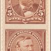 5c chocolate Grant vertical pair imperforate horizontally